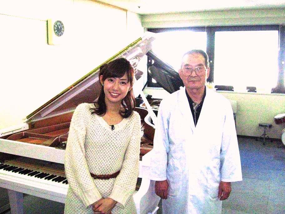 山崎アナウンサーと当学院の工藤先生